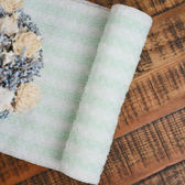 綠白條紋沐浴巾-生活工場