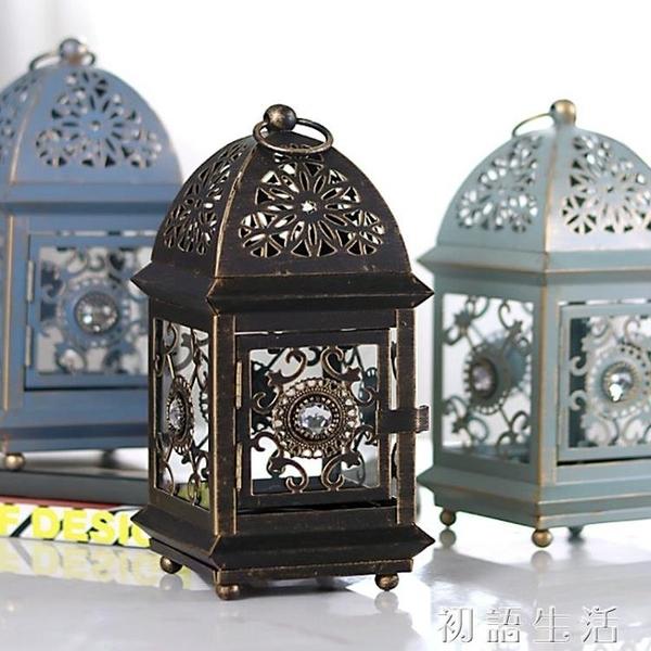 摩洛哥歐式蠟燭台復古鐵藝家用裝飾燭台擺件北歐浪漫燭光晚餐道具 中秋節全館免運