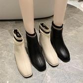 馬丁靴女英倫風2020春秋新款百搭ins粗跟彈力短靴子高跟加絨女靴 蘿莉小腳丫
