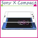 Sony X Compact F5321 滿版9H鋼化玻璃膜 3D曲屏螢幕保護貼 全屏鋼化膜 全覆蓋保護貼 防爆 (正面)