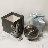 透明球水晶球少女心禮物盒口紅球形禮盒空盒禮品盒包裝盒禮物小號   LN4269【甜心小妮童裝】