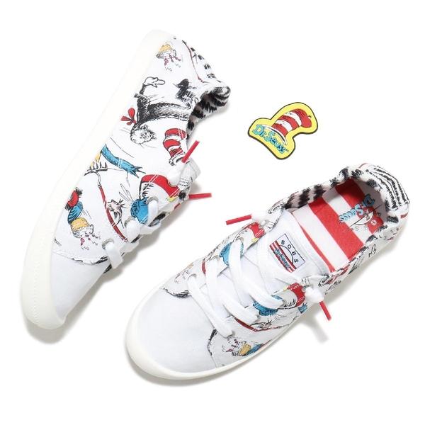Skechers 休閒鞋 Beach Bingo Dr.Seuss 女 聯名 白 塗鴉【ACS】 113592WMLT