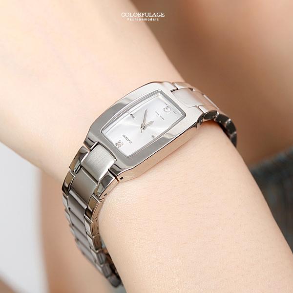 CASIO卡西歐 簡約水鑽刻度手錶 時尚氣質腕錶 有保固【NEC125】原廠公司貨