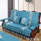 實木沙發墊帶靠背連體三人坐墊椅墊冬季防滑紅木加厚海綿沙發墊子 NMS小艾新品