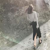 秋冬季韓版女神小香風時尚套裝裙女毛衣 半身裙子兩件套解憂雜貨鋪