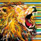 動物 無框畫 油畫 複製畫 木框 畫布 掛畫 居家裝飾 牆飾 壁飾【獅子】