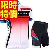 自行車衣 短袖 車褲套裝-排汗透氣吸濕限量焦點女單車服 56y23[時尚巴黎]