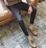 牛仔褲夏季薄款褲子男牛仔褲休閒寬鬆直筒長褲韓版潮流修身小腳男士 迷你屋