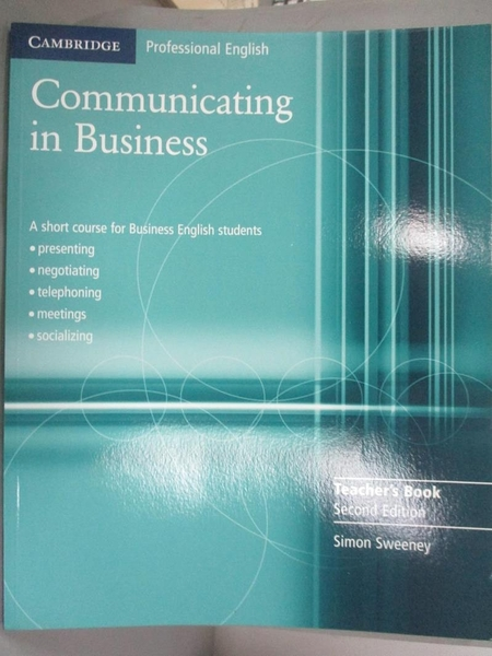 【書寶二手書T9/大學商學_JMZ】Communicating In Business: A Short Course