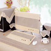 雙11搶購電腦鍵盤防塵套 臺式電腦防塵罩液晶顯示屏保護套現代簡約通用一體主機鍵盤蓋布