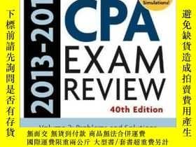 二手書博民逛書店Wiley罕見Cpa Examination Review 2013-2014 Problems And Solu