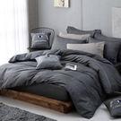 OLIVIA 【 LUCAS 黑灰 】 標準雙人床包冬夏兩用被套四件組 都會簡約 2017