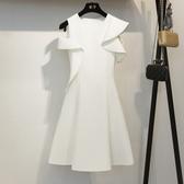 小禮服 洋裝小禮服新款韓版時尚名媛氣質短裙白色洋裝女 莎瓦迪卡