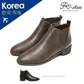 靴.側V彈性帶卻爾西踝靴-FM時尚美鞋-韓國精選.Winter
