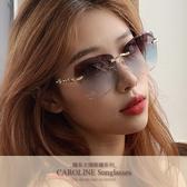 《Caroline》韓系質感熱門款網紅潮流無框ins太陽眼鏡71756標檢局D74321