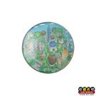 【收藏天地】台灣紀念品*水晶玻璃球冰箱貼-台北 ∕
