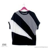【INI】透氣舒適、寬袖版涼感設計上衣.黑色