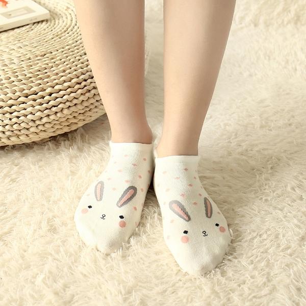 泰博思 立體女船型短襪 全棉襪子 立體動物襪 造型襪 短襪 女【V007】