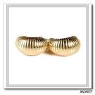 MONET 復古線紋半月金夾式耳環(金色)990139