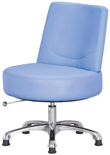 HP435-15 造型椅QG-007藍皮/固定輪/單張