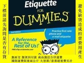 二手書博民逛書店Business罕見Etiquette For Dummies, 2nd EditionY410016 Sue