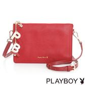 PLAYBOY- 斜背包 Pure Color 純色獻禮系列-時尚紅