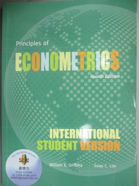 【書寶二手書T9/大學商學_YCB】Principles of Econometrics, Fourth Edition