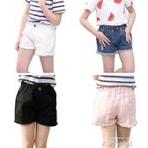 兒童牛仔短褲2019夏裝新款中大童休閒運動薄款外穿女童純棉褲子   米娜小鋪