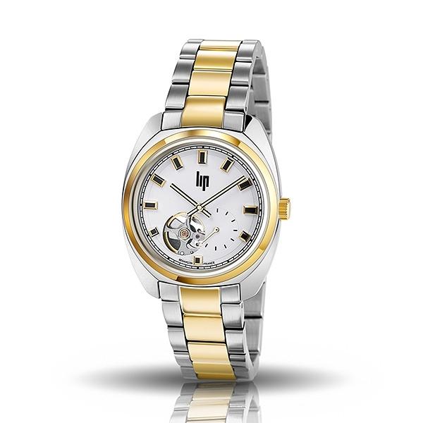 【lip】General De Gaulle法國總統時尚鋼帶機械腕錶-雙色金(小)/671336*/台灣總代理公司貨享兩年保固