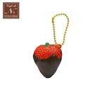 巧克力醬款【日本正版】草莓 捏捏吊飾 吊飾 捏捏樂 軟軟 cafe de n squishy 捏捏 - 618184