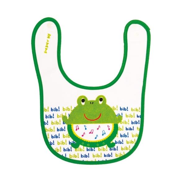 【日本製】【Rub a dub dub】幼童用 寶貝圍兜兜 青蛙圖案 SD-9139 - Rubadubdub