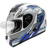 [中壢安信] ZEUS 瑞獅 806F 彩繪 II58 白藍 全罩 安全帽 內嵌墨片 空力鰭片 負壓排氣導流