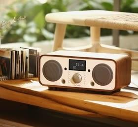 ★結帳再折 Auluxe New Breeze 收音機/鬧鈴 NFC/藍牙/USB揚聲器 2.1聲道 天然木質音箱 公司貨