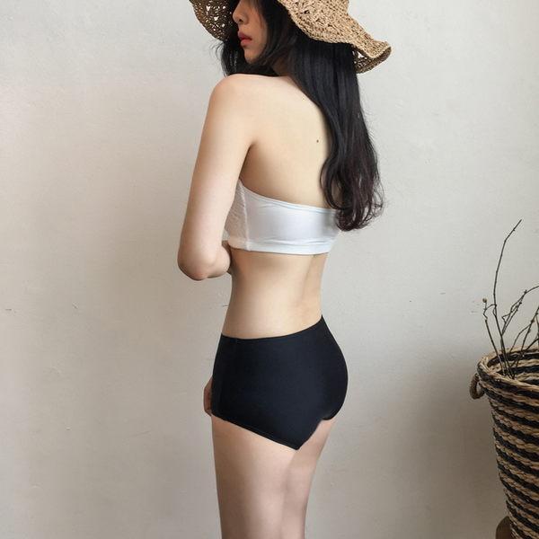 梨卡★現貨 - 天使蕾絲甜美性感[顯瘦+高腰遮肚]兩件式泳裝比基尼二件式泳衣CR216