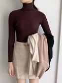 長袖針織衫內搭秋冬黑色打底衫高領毛衣外穿女裝上衣 - 風尚3C