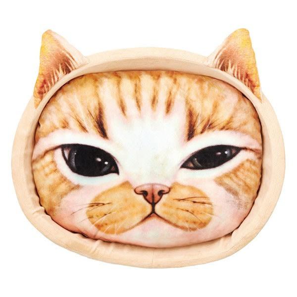 ★國際貓家★MARUKAN-日本可愛貓臉寫真印花睡窩