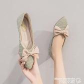 豆豆鞋 2021春季網紅淺口單鞋舒適平底鞋韓版小香風豆豆鞋女晚晚風溫柔鞋 曼慕