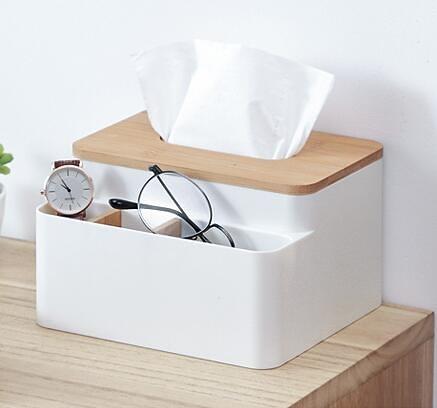 納川家用桌面北歐簡約紙巾盒抽紙遙控收納盒