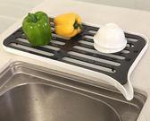 水槽邊碗碟瀝水收納架 塑料濾水盤置物架廚房洗菜瀝水籃瀝水架子igo     蜜拉貝爾