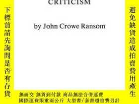 二手書博民逛書店The罕見New Criticism-新批評Y436638 John Crowe Ransom Praeger