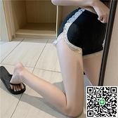 防走光安全褲蕾絲邊打底褲女可外穿褲子高腰短褲保險褲 樂淘淘