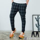 【OBIYUAN】長褲 韓國製 雅痞 格紋 彈性 九分休閒褲 共1色【BH508】