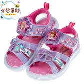 《布布童鞋》Disney蘇菲亞小公主蝴蝶結紫色兒童電燈涼鞋(16~19公分) [ B9L577F ]