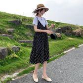 米蘭 孕婦夏裝洋裝2019新款上衣時尚套裝夏天裙子潮媽網紅款過膝長裙