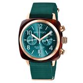 BRISTON CLUBMASTER 經典雙眼計時腕錶-寶石綠