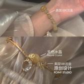 手鍊手工黃水晶星月手女ins小眾設計珠子轉運復古韓版個性閨蜜首飾 新年禮物