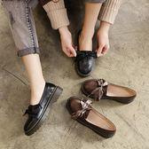 牛津鞋 平底小皮鞋原宿百搭單鞋英倫復古牛津鞋韓版學院軟妹女鞋【極有家】