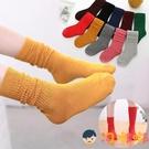 3雙裝 兒童襪子堆堆襪男女童寶寶中長筒襪加厚高筒【淘嘟嘟】