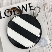 BRAND楓月 LOEWE 羅意威 新款 圓形 黑白 條紋 零錢包 錢包 鑰匙包 小物收納