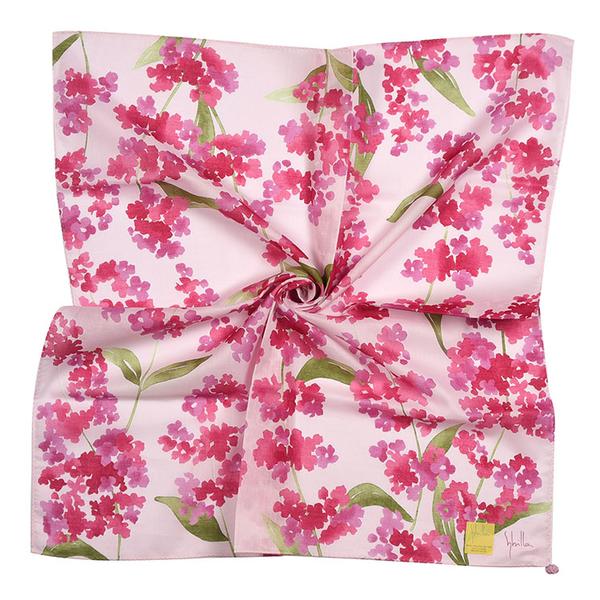 Sybilla鼠尾草印花純綿帕領巾(粉紫色)989164-108